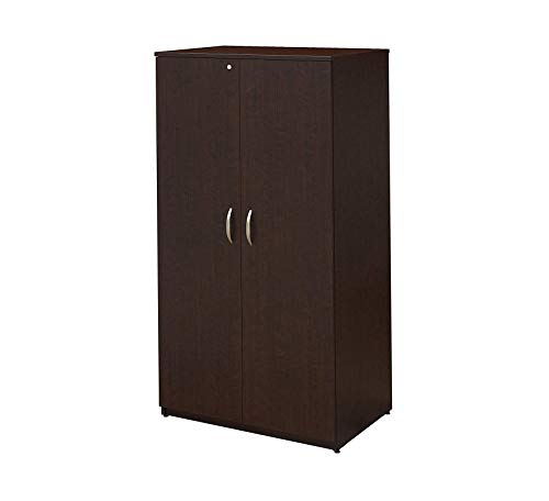 Wood & Style Furniture 36W Wardrobe Storage Cabinet in Mocha Cherry Home Office Commerial Heavy Duty Strong Décor