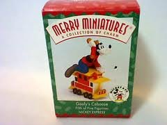 Merry Miniatures Goofy's Caboose Hallmark Disney Mickey Mouse & Co. Figurine