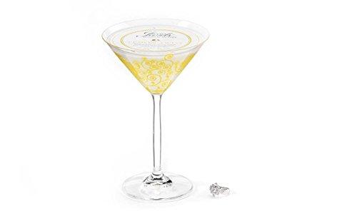 Secret Jewels Lemon Twist Candles Martini Glass Candle ()