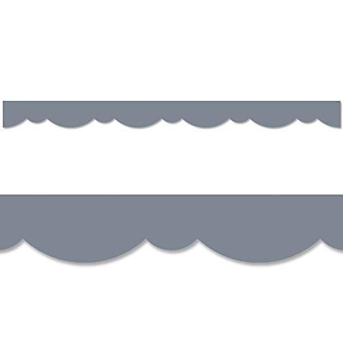 Creative Teaching Press Charcoal Gray Stylish Scallops Border, CTP 8564