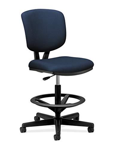 Hon Volt Task Stool- Upholstered Office Stool, Navy (H5705)