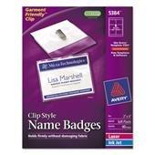 AVE5384 - Avery Badge Holder Kit w/Laser/Inkjet (Inkjet Badge Holder Kit)