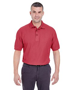 UltraClub Men's Whisper Pique Polo Plain Golf Shirt 8540 4XL Cardinal ()
