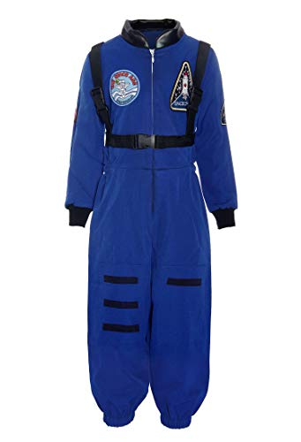 ReliBeauty Boys Kids Children Astronaut Role Play Costume, Royal, 4T-4