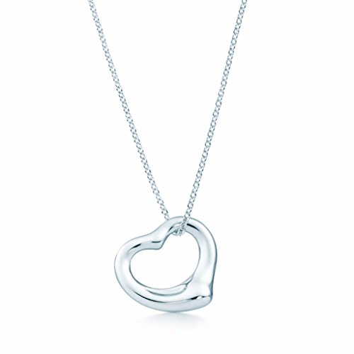 No.1 Silver elsa peretti Open Heart Pendant Necklace in Sterling Silver Tiffany Two Hearts Pendant