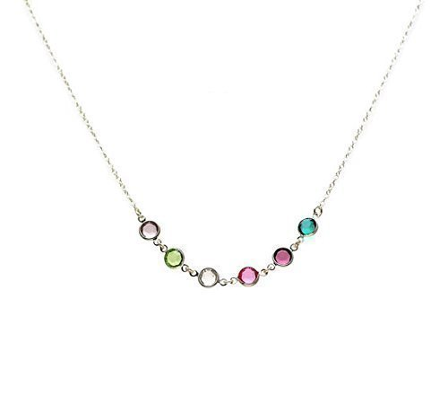 9b11ce47d206d Birthstone Necklace for Mom Mothers Necklace with Birthstones Grandma  Necklace Sterling Silver Birthstone Necklace Mothers Day Gifts Grandma  Gifts for ...