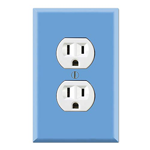 (Graphics Wallplates - Simply Blue - Duplex Outlet Wall Plate Cover)