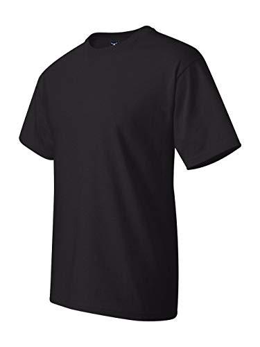 Hanes Men's Beefy-T Crewneck Short-Sleeve T-Shirt, Black - - Postage Stamp Soft T-shirt