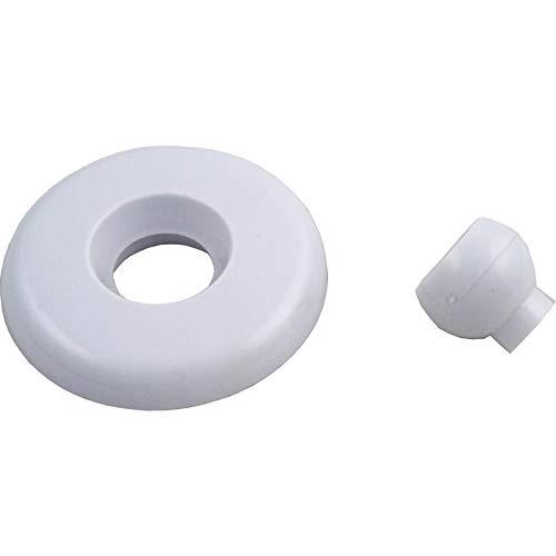 Balboa Water Group Escutcheon, BWG/GG Mini Jet, w/Dir Eyeball, Smth, White