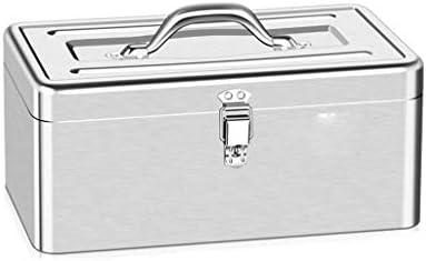 LHT 車のハードウェアツールボックス多機能ステンレス鋼の家庭用長方形ポータブル錫ストレージボックス ツールボックス (Size : S)