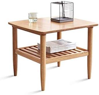 Korting MBZL bijzettafel, koffietafel, 2 diktes, massief oak hout eindtabel, thuis, zijde, thee, telefoon opmaa tabel  0oif8gh
