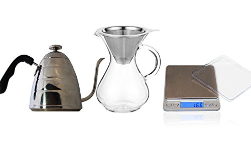 coastline-pour-over-coffee-kit-includes-4-cup-carafe-with-stainless-steel-reusable-filter-pour-over-