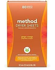 METHOD Dryer Sheets Ginger Mango, 80 Count
