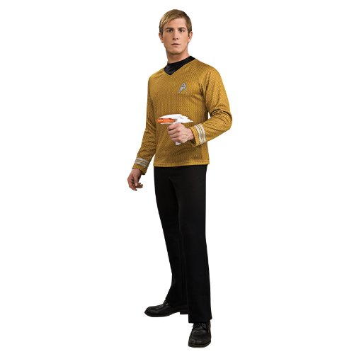 Rubie's Costume Star Trek Gold Star Fleet Uniform Shirt, Gold, Large Costume - Uniform Costumes