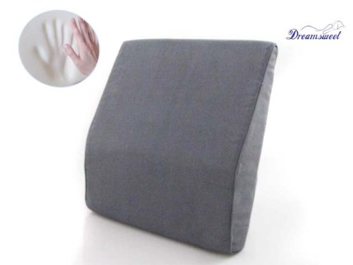Dreamsweet Memory Foam Lumbar Back Support for Posture Aid & Sitting Relief for Driving, Office and Home, Gray by Dreamsweet