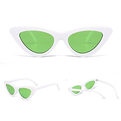Petites Lunettes De Soleil En Yeux De Chat Pointues,OverDose Femme Intégré UV Mode Sunglasses F