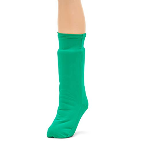 CastCoverz! Fashionable Leg Cast Cover - Festive Green - Medium Short - Below The Knee - Protective, Decorative and Washable - Made in USA