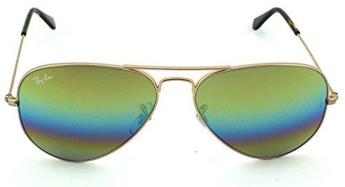 ce8c5b8e7aafb Ray-Ban RB3025 Aviator Large Metal Polarized Unisex Sunglasses (Metallic  Light Bronze Frame  ...