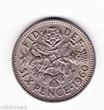1960 ENGLISH SIXPENCE %2D%2D LUCKY WEDDI