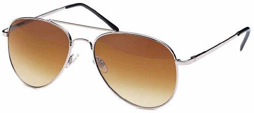 Années d'aviateur marron '70 soleil lunettes de Lunettes de Femmes Argent effet miroir amp; soleil aviateur Homme Lunettes lunettes de soleil Ans xYwqxASg