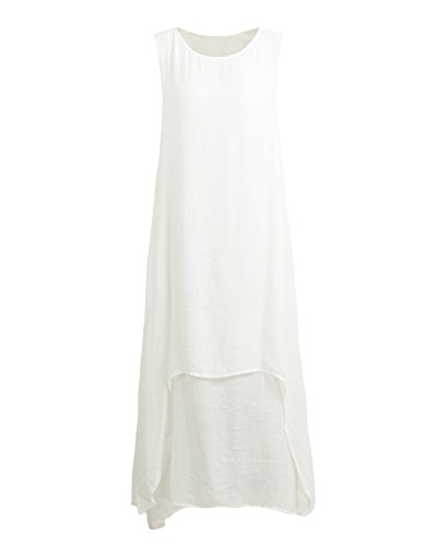 Robe Longue Epaule Maxi Party Boho Romacci de Sexy Robe Nu Plage Cocktail Col Long Blanc V nvxqzAEw8E