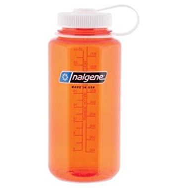 Nalgene 32oz Tritan Wide Mouth Bottle Orange w/ White Top