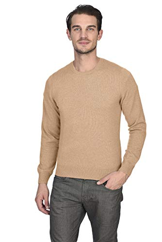 Camel Crewneck Sweater Cashmere - State Cashmere Men's 100% Pure Cashmere Long Sleeve Pullover Crew Neck Sweater (XX-Large, Camel)
