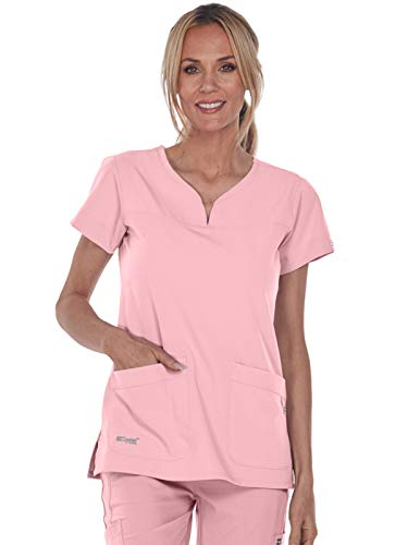 Grey's Anatomy Signature 2121 Notch Neck Top Rose Blush ()