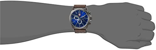 Luminox Men s Atacama Field Swiss Quartz Stainless Steel and Leather Casual Watch, Color Grey Model 1943