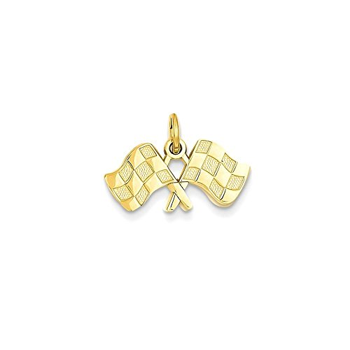 Jewels By Lux 14k Racing Flags Charm - 14k Racing Flags