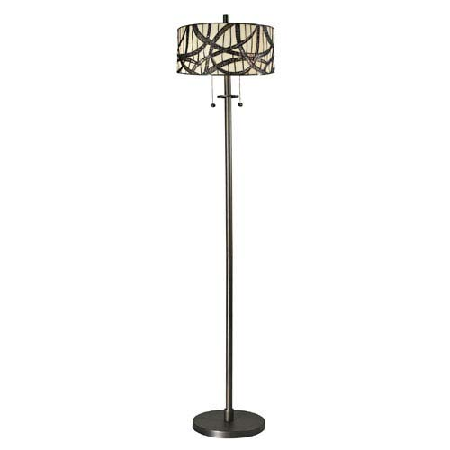 Willow Two Light - Dale Tiffany Willow Cottage Dark Bronze Two Light 61-Inch Torchiere Lamp