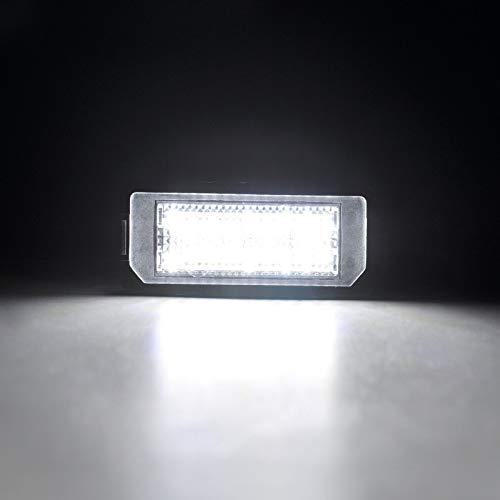 2001-2007 Zesfor Luces de matr/ícula LED para Renault Laguna II
