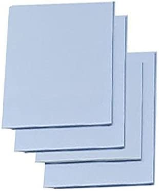 """Easy Cut Carving Sheets - 4 Pack Blue Soft & Firm Artist Printmaking Block Printing Set for Sharp, Clear Prints Easy-to-Cut Linoleum (2"""" x 3"""")"""