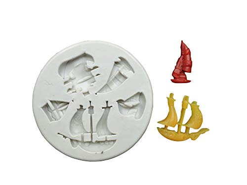 - Pirate Ship Silicone Mold for Chocolate Candy Wax Melts Soap Oreo Candle Resin Clay Soap Gum Paste Fondant Cake Decorating Tools