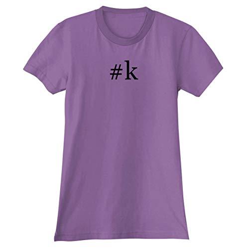 #k - A Soft & Comfortable Hashtag Women's Junior Cut T-Shirt, Lavender, XX-Large