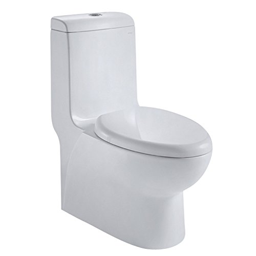 Ariel CO1038 European Style Dual Flush One Piece Toilet by Ariel Bath