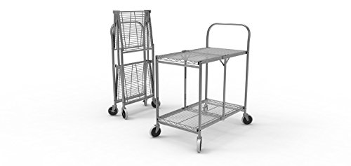 Luxor Two-Shelf Collapsible Wire Utility Cart