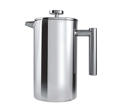 Grunwerg Cafe Ole Double Wall Insulated 6 Cup 25oz Stainless Steel French Coffee Press