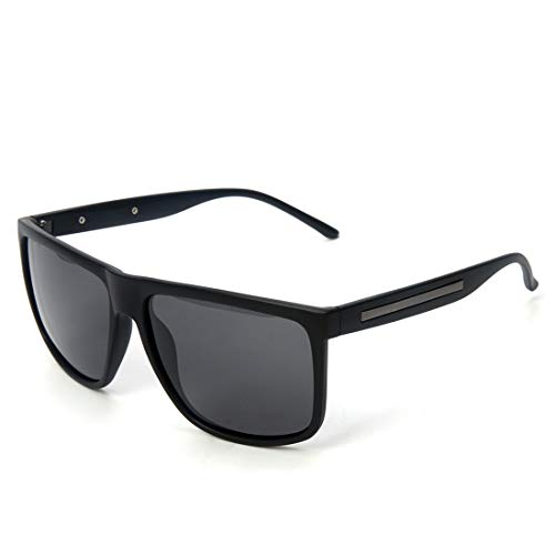 Gafas Hombres Sol Sol Gafas De Gran De Sol de Lens Matte Sol De Tamaño De De Black Los Frame Gafas Lens Gafas Frame Gray Color TLMY Gray Clear Protectoras Black n8EqX7YE