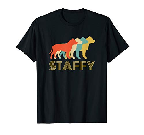Staffy Staffordshire Bull Terrier Dog Breed Silhouette T-Shirt