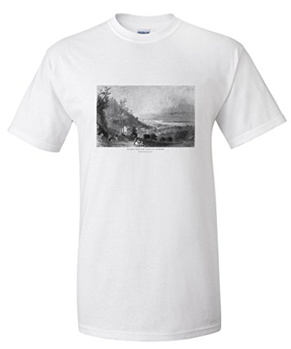 Wyoming, Pennsylvania - Panoramic Descending View of Wyoming Valley (White T-Shirt XX-Large)