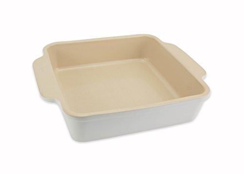 Square Dish Baker (USA Pan 1130BW-SW-W-1 Bakeware Handmade Non Stick Stoneware Squarer Baking Dish, 8.75 x 8.75-Inch)