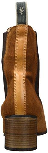 Marc OPolo Damen Mid Heel Chelsea 70714185101303 Schlupfstiefel Braun (Cognac)