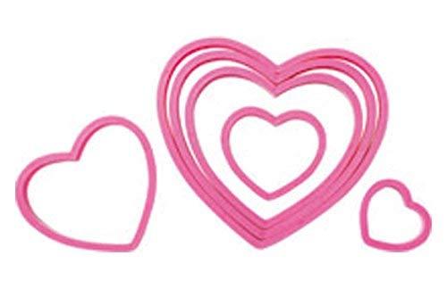 Wilton 2304-115 Nesting Heart Cutter Set