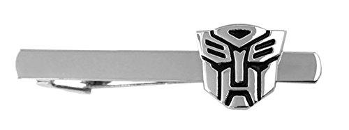 Outlander Transformers Silver Tiebar - New 2018 Movies - Optimus Prime Wedding Logo w/Gift Box