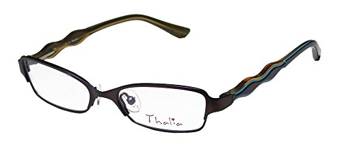 Thalia Palma Womens/Ladies Prescription Ready Glamorous Designer Full-rim Eyeglasses/Glasses (46-15-125, Plum / - Europe Eyeglasses