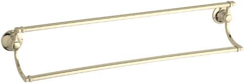 """Kohler K-11413-AF Bancroft 24"""" Double Towel Bar, Vibrant French Gold"""