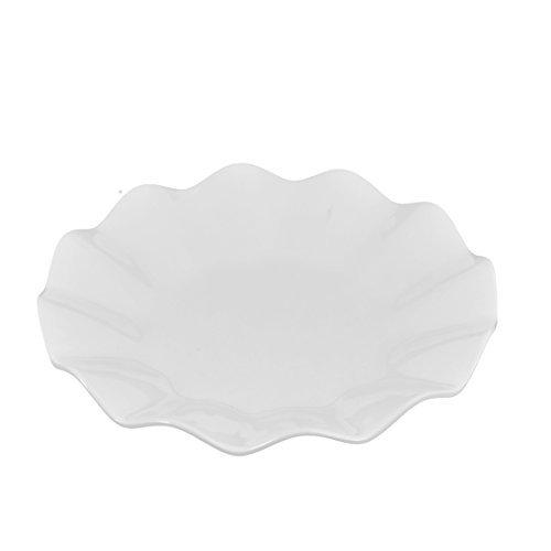 EbuyChX Plastic Wavy Edge Food Pampagana Dessert Cake Dish Plate Container