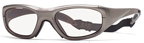 Rec Specs MX-20 Protective Eyewear Metallic Light Brown Frame,Clear Lens, Unisex by Rec Specs