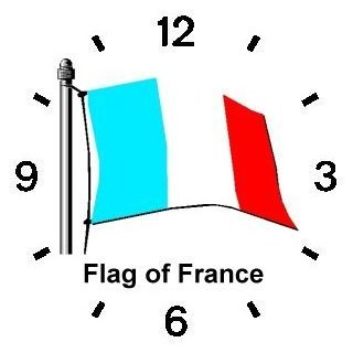 Flag of France - Tricolor No.1 Paris & France Theme - WATCHBUDDY ELITE Chrome-Plated Metal Alloy Watch with Metal Mesh Strap-Size-Large ( Men's Size or Jumbo Women's Size )